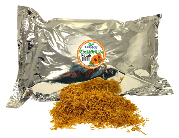 Calendula Flower Petals Dried Herb - Bulk 16 oz (1 lb) Herbal Tea | Make Calendula Oil DIY Skin Care