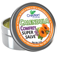 Calendula-Comfrey Salve - Super Salve - Large 4 oz Tin, Super Salve, Herbal Salve