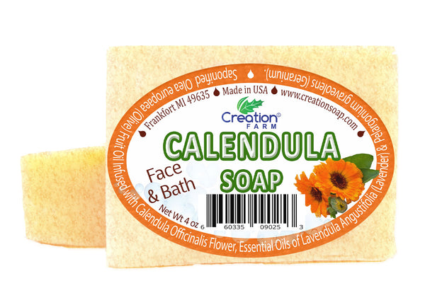 Calendula Soap Two 4 oz Bar Pack by Creation Farm - Creation Pharm