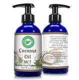 Fractionated Coconut Oil - MCT OIL from Coconut - Aceite de coco fraccionado, MCT -16 OZ- 100% Pure - Creation Pharm