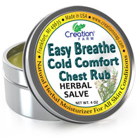 Easy Breathe Cold Comfort Chest Rub Large 4 Oz Tin - All Natural Botanical Ingredients - Creation Pharm