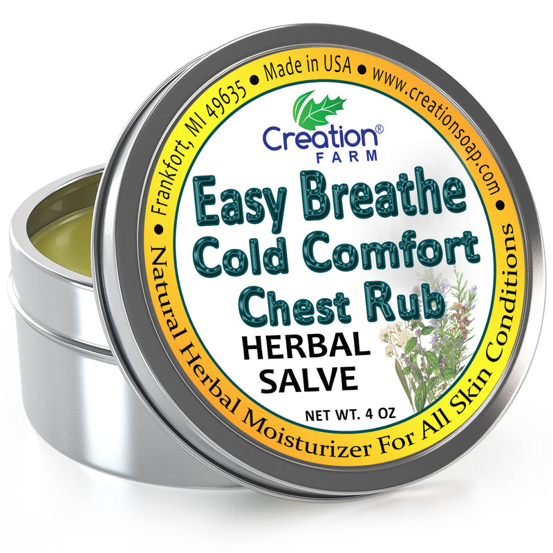 Easy Breathe Cold Comfort Chest Rub - Herbal Balm from Creation Farm - Creation Pharm
