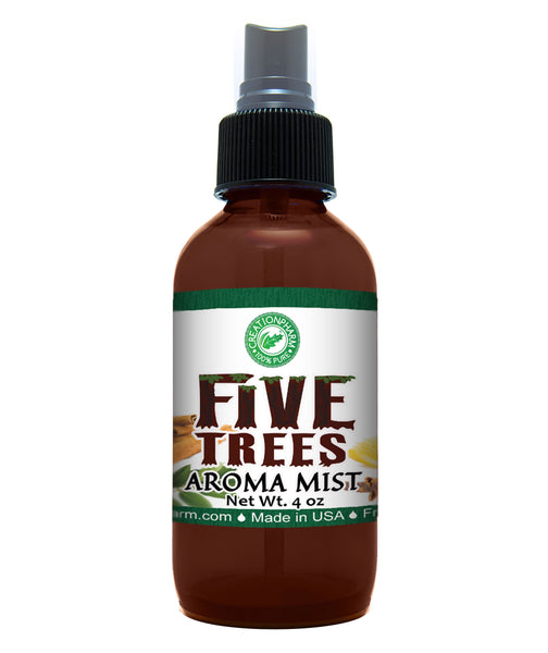 Five Trees Aroma Mist 4oz by Creation Pharm with Pure Essential Oils