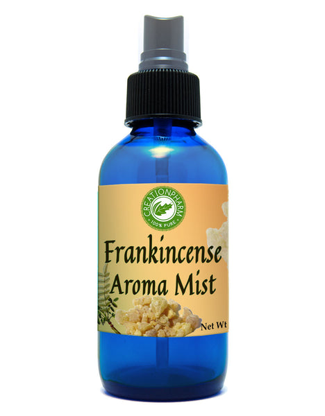 Frankincense Aroma Mist Diffuser: Diffused in Distilled Water Via a 4 Oz Cobalt Blue Bottle from Creation Farm