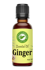 Ginger Essential Oil 30ml (1oz) Creation Pharm - Creation Pharm