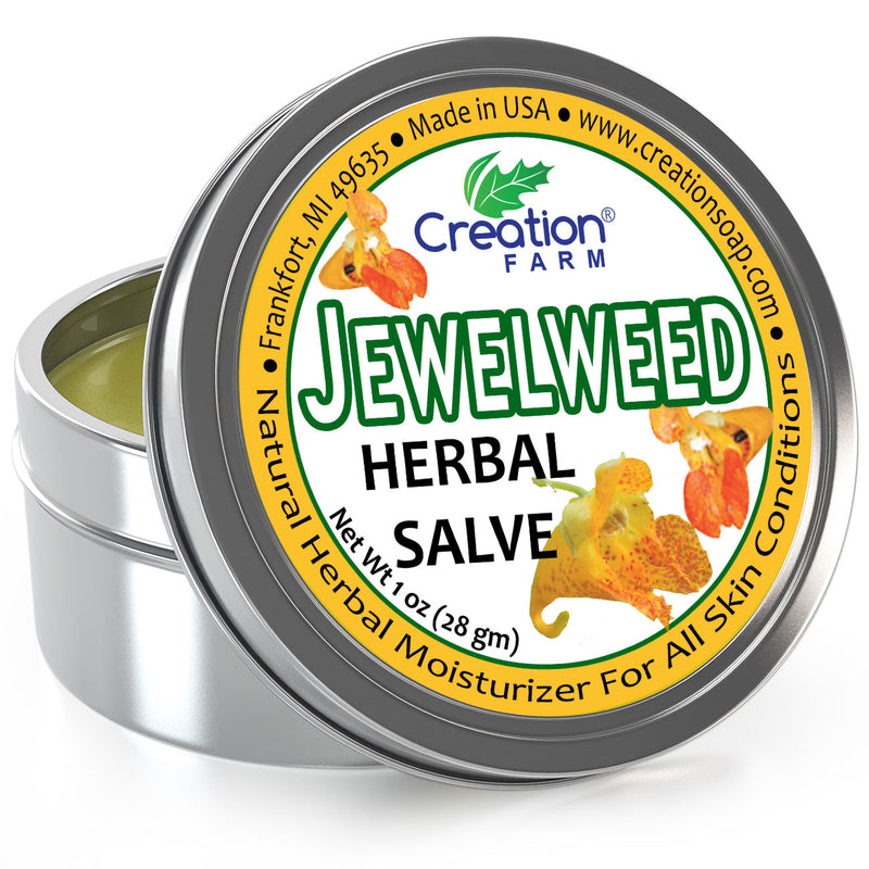 Jewelweed Herbal Salve - Herbal Jewelweed for poison ivy summer skin comfort itchy sting - Creation Pharm