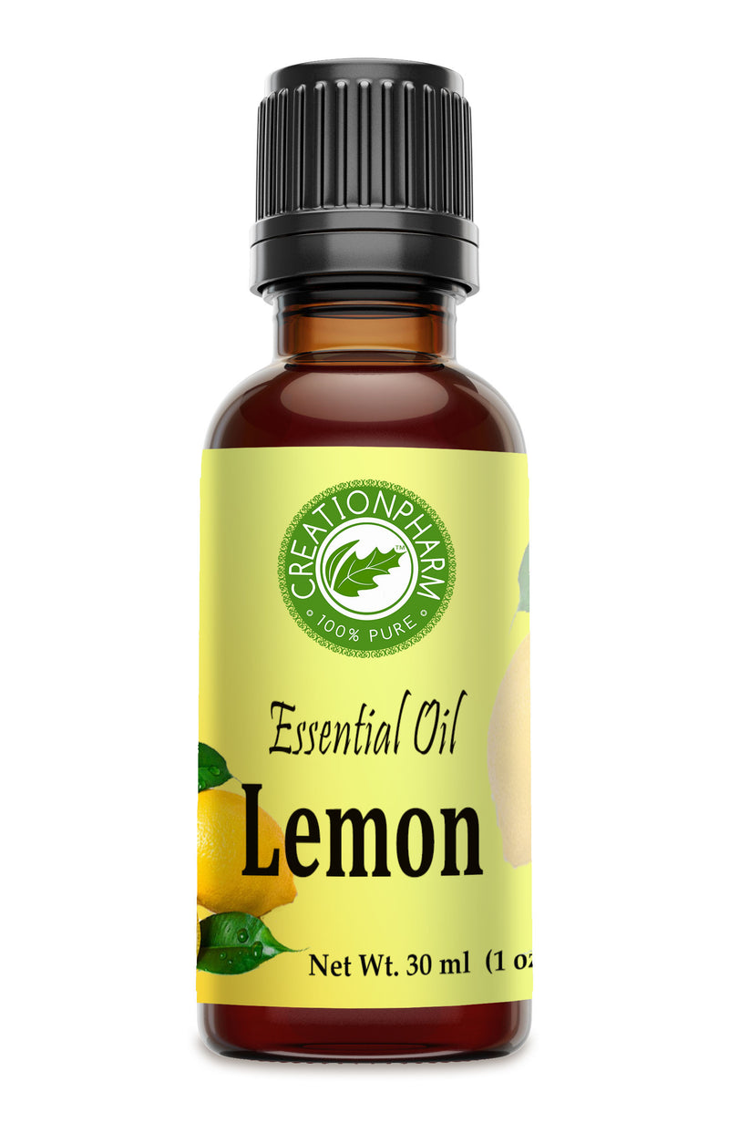 Lemon Essential Oil 1 oz Aceite Esencial de Limón 100% Pure Therapeutic Grade - Creation Pharm