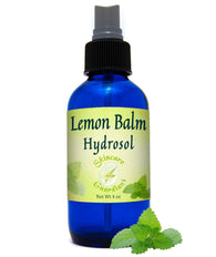 Lemon Balm Hydrosol 4 oz.- Basalmo de Limon Hidrosol - Relieves Stress, Fatigue & Skin Rashes. - Creation Pharm