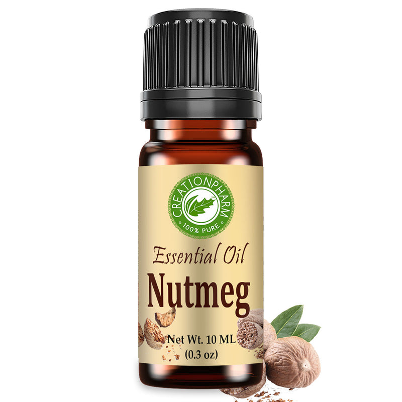 Nutmeg Essential Oil 100% Pure 10 ml (0.3 oz) by Creation Pharm - Creation Pharm