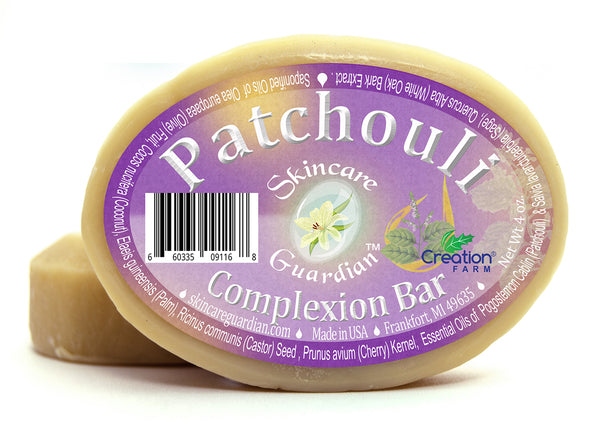 Patchouli Complexion Face & Bath Soap - Two 4 oz Bar Pack by SkinCare Guardian - Creation Pharm
