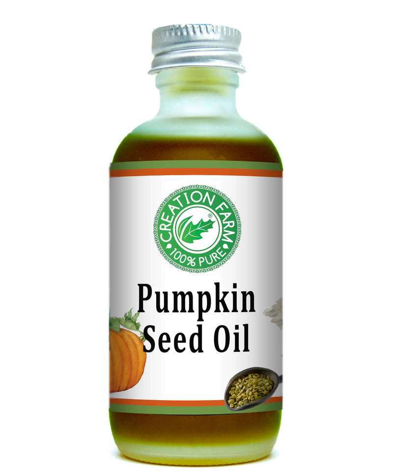 Pumpkin Seed Oil, Extra Virgin, Cold Pressed, 2 oz. by Creation Farm - Creation Pharm