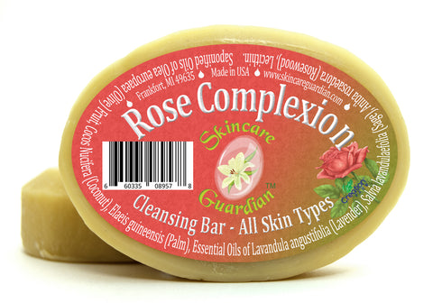 Rose Complexion Cleansing Soap for All Skin Types - Two 4 oz Bar Pack by SkinCare Guardian