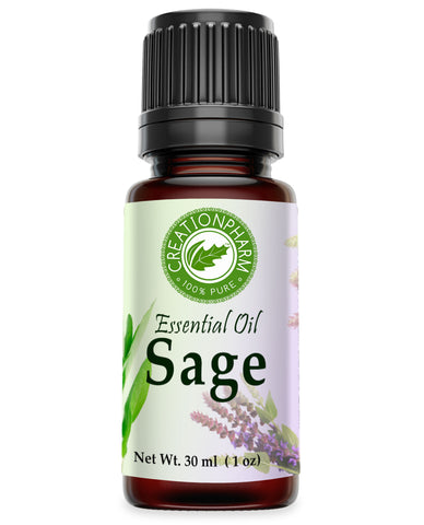 Sage Essential Oil 100% Pure - Creation Pharm