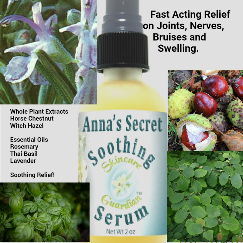 Anna's Secret Soothing Serum 2 oz Suero Calmante de Pierna