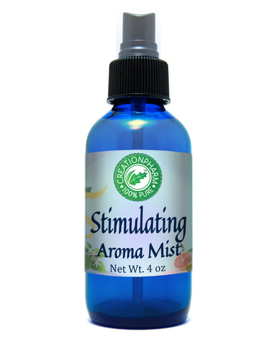Stimulating Aroma Mist 4oz 100% Pure Essential Oil Mist - Creation Pharm