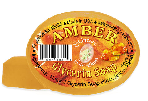 Amber Herbal Elements Glycerine Soap Two 4 oz Bar Pack by Creation Farm - Creation Pharm
