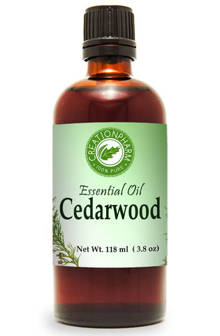 Cedarwood Essential Oil 120ml (4oz) Creation Pharm - Creation Pharm