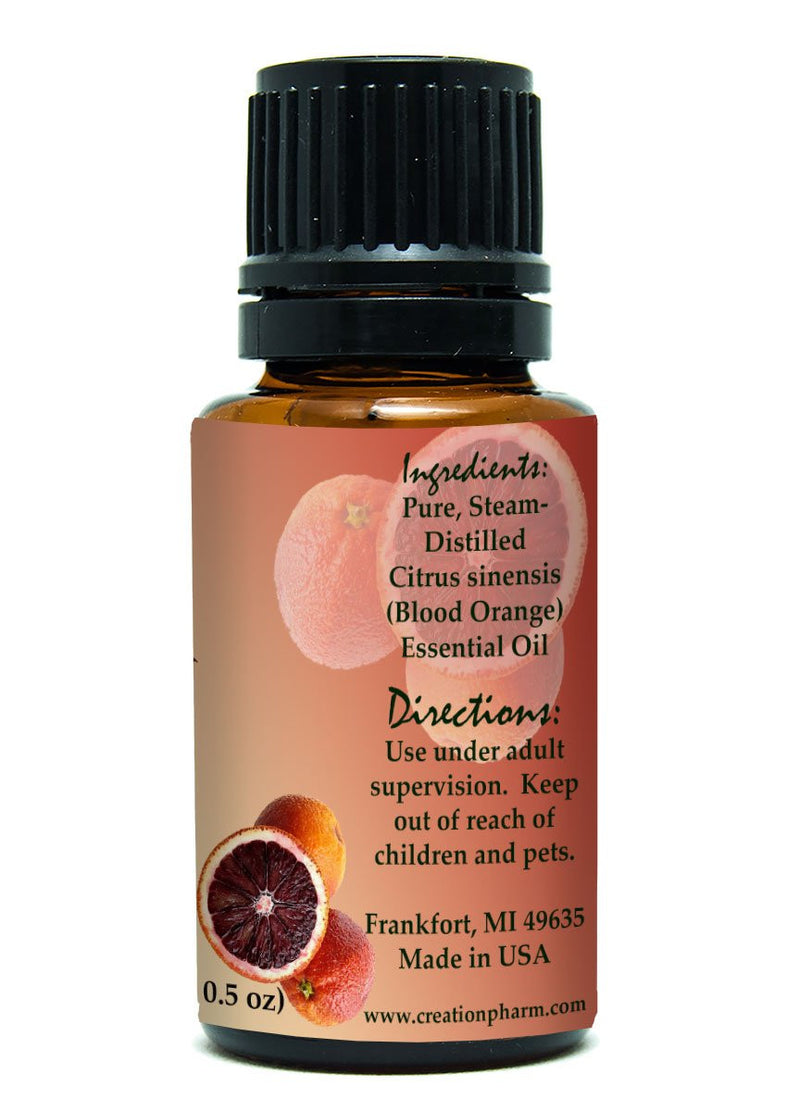 Blood Orange Essential Oil 100% Pure - Aceite Esencial de Naranja Sangre - Creation Pharm - Creation Pharm