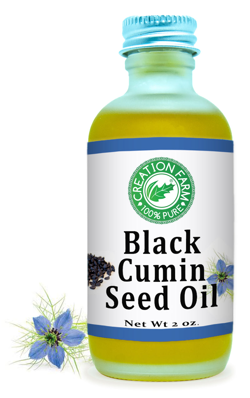 Black Cumin Seed Oil 2 Oz 100 % Pure, Cold Pressed, Unrefined, Virgin Black Cumin Seed Oil - Creation Pharm