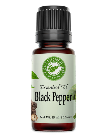 Black Pepper Oil Essential Oil -  Aceite Esencial de Pimienta Negra - Creation Pharm
