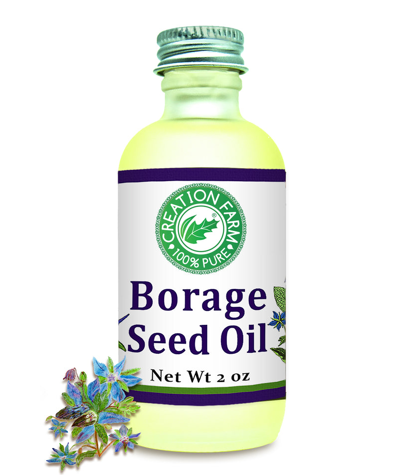 Borage Seed Oil 2 oz by Creation Farm - Creation Pharm