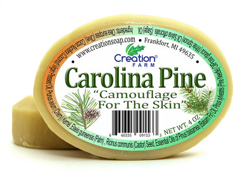 Carolina Pine 100% Pure Handmade Botanical Soap 8 oz (Two 4 oz Bar Pack) from Creation Farm - Creation Pharm