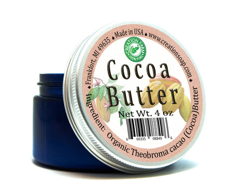 Cocoa Butter Natural Aroma- Facial Moisturizing Skin Softening Cocoa Butter - 4 oz Jar
