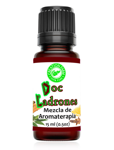 Doc Ladrones Mezcla de Aromaterapia - Doc Theive's Aroma Blend 15 ml (0.5 oz) by Creation Pharm