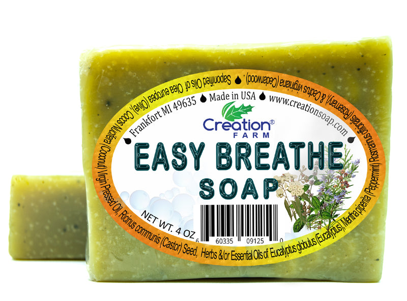 Easy Breathe - Cold Comfort Soap 4 oz Bar (Two 4 oz Pack) by Creation Farm - Creation Pharm