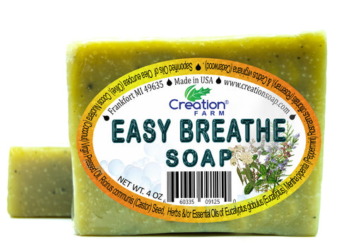 Easy Breathe - Cold Comfort Soap 4 oz Bar (Two 4 oz Pack) by Creation Farm