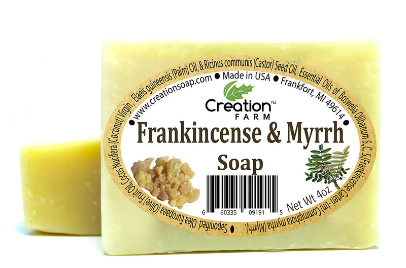 Frankincense & Myrrh Soap - Two 4 oz Bar Pack by Creation Farm - Creation Pharm