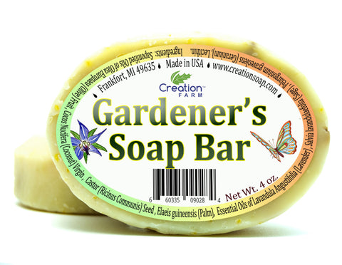 Gardener's Soap Bar with Corn Grits Two 4 oz Bar Pack by Creation Farm - Creation Pharm