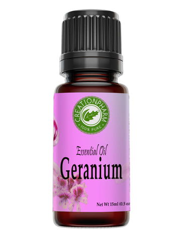 Geranium Essential Oil - 100% Pure - Creation Pharm - Aceite esencial de geranio