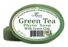 Green Tea & Green Clay Soap Two 4 oz Bar Pack by Creation Farm - Creation Pharm