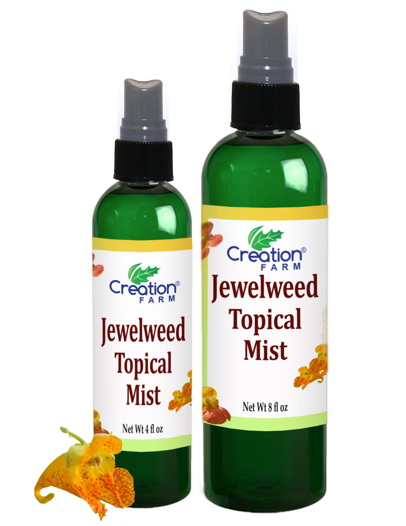 Jewelweed Spray - Poison Ivy, Bug Bites, Rash, remedy for quick relief - Large 8 oz Bottle - Creation Pharm