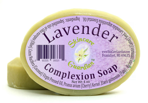 Lavender Complexion Soap Two 4 oz Bar Pack by SkinCare Guardian