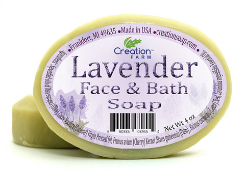 Handmade Lavender Facial & Complexion 100% Pure Botanical Soap 8 oz (Two 4 oz Bar Pack)
