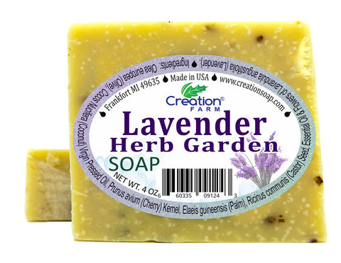 Lavender Herb Garden Soap Two 4 oz Bar Pack by Creation Farm - Creation Pharm