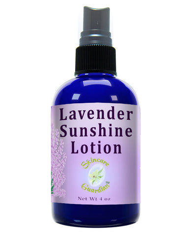 Lavender Sunshine Lotion 4 oz by SkinCare Guardian Therapeutic Body Lotion