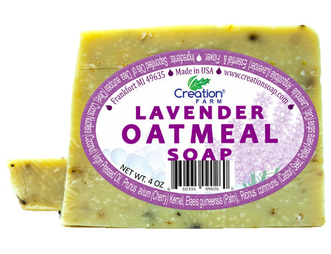 Lavender Oatmeal Soap Two 4 oz Bar Pack by Creation Farm - Creation Pharm