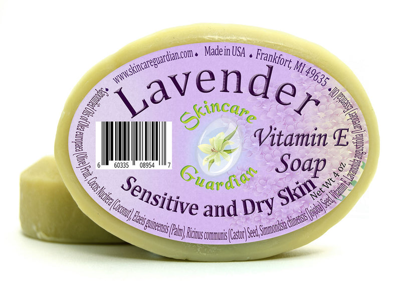Lavender Vitamin E Soap for Sensitive and Dry Skin 4 oz - Creation Pharm