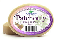 Patchouli Face & Bath Pure Botanical Soap 8 oz (Two 4 oz Bar Pack) - Creation Pharm