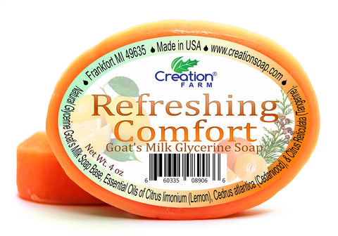 Refreshing Comfort Goat's Milk Glycerine Soap  - Two 4 oz Bar Pack by Creation Farm - Creation Pharm