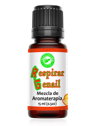 Respirar Genail 15 ml Blend for Aromatherapy Diffuser | Allergy Sinus | Home or Office | - Creation Pharm