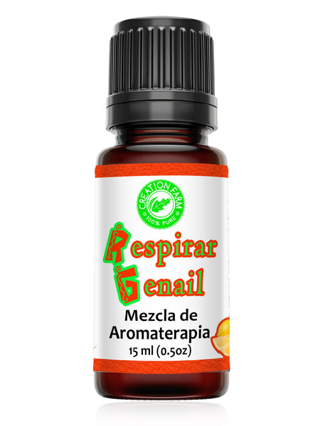 Respirar Genail 15 ml Blend for Aromatherapy Diffuser | Allergy Sinus | Home or Office |