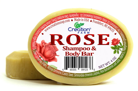 Rose Shampoo & Body - Two 4 oz Bar Pack by Creation Farm - Creation Pharm