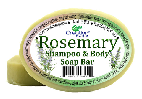 Rosemary Botanical Shampoo & Body Soap 8 oz (Two 4 oz Bar Pack) - Creation Pharm