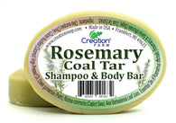 Rosemary Coal Tar Shampoo & Body Bar - Creation Pharm