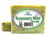 Rosemary Mint 100% Pure Botanical Soap 4 oz Bar (Two 4 oz Bar Pack) by Creation Farm - Creation Pharm