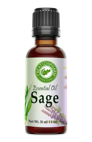 Sage Essential Oil 30ml (1oz) 100% Pure Essential Oil - Creation Pharm